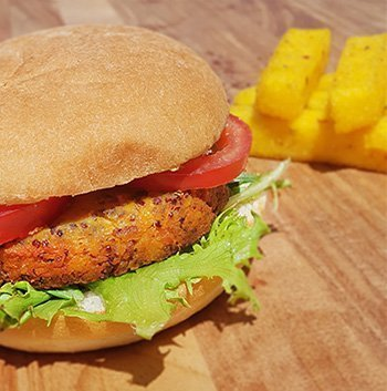 Feta & Quinoa Vegetarian Burger Pattie