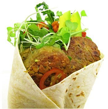 Vegetarian Vegan falafel wrap using Wild Chef mini burger buns