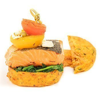 Gluten free Salmon Stack using Wild Chef Kumara Rosti