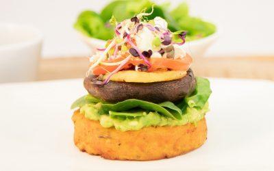 Kumara Rosti Vegetarian Stack