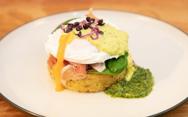 Gluten Free Eggs Benedict using Wild Chef Herb Rosti
