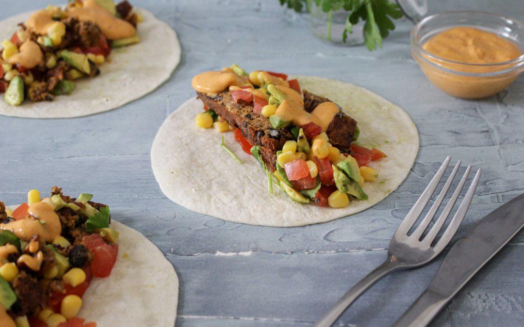 Black Bean Patty Soft Tacos